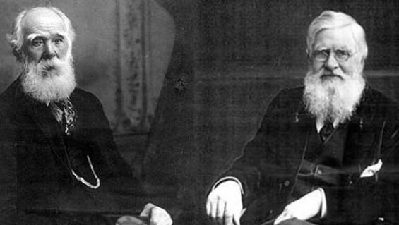 Charles Darwin y Alfred R. Wallace, los científicos que compartían las ideas evolucionistas. Sólo que Darwin se apresuró a publicarlas.